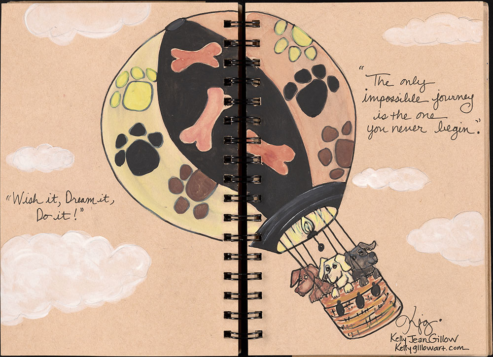 SCBWI Eastern Pennsylvania Traveling Sketchbook - Page 46 and Page 47