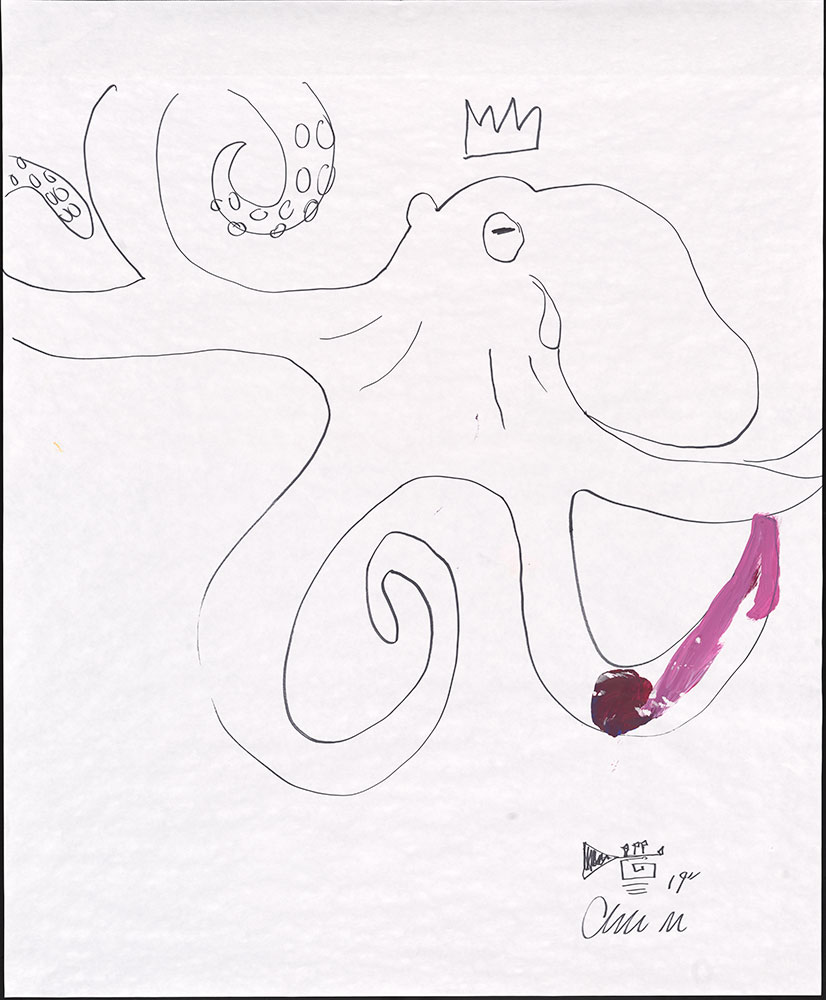 Esperanza - Red Yellow Blue (and a Dash of White Too!) - Octopus Sketch