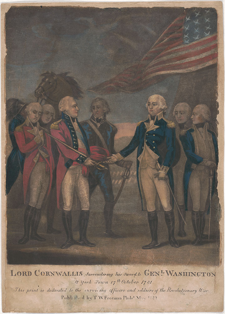 Lord Cornwallis Surrendering his Sword to Genl. Washington