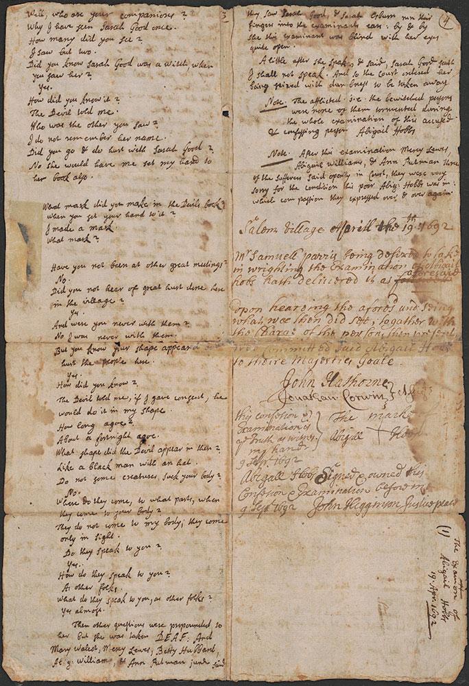 Confession of Abigail Hobbs at Salem Village, page 2