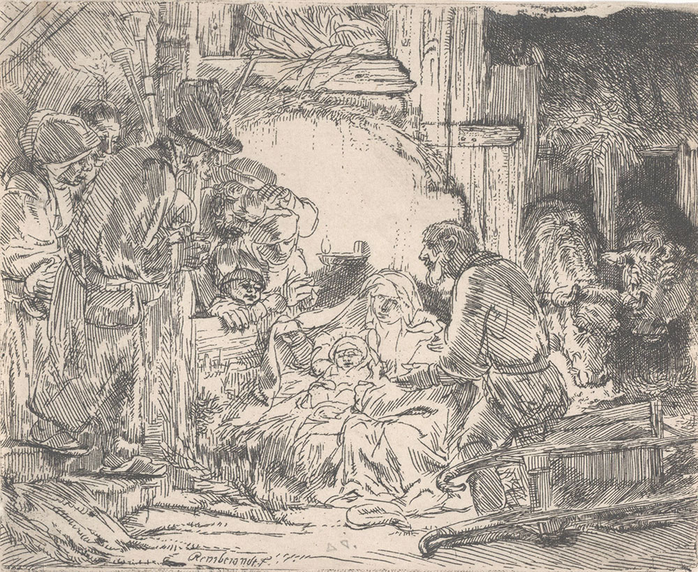 Adoration of the Shepherds with a Lamp