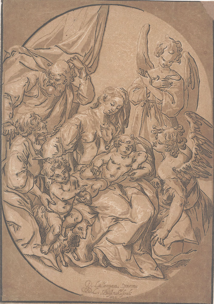 The Holy Family with the Infant St. John, in an Oval.