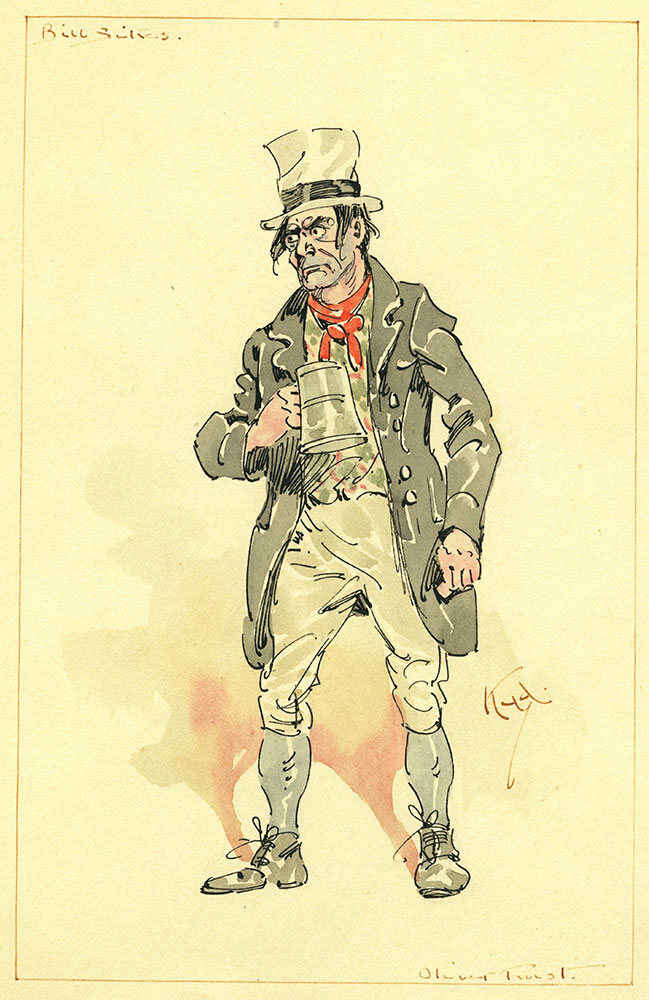 Bill Sikes - Watercolor Illustration