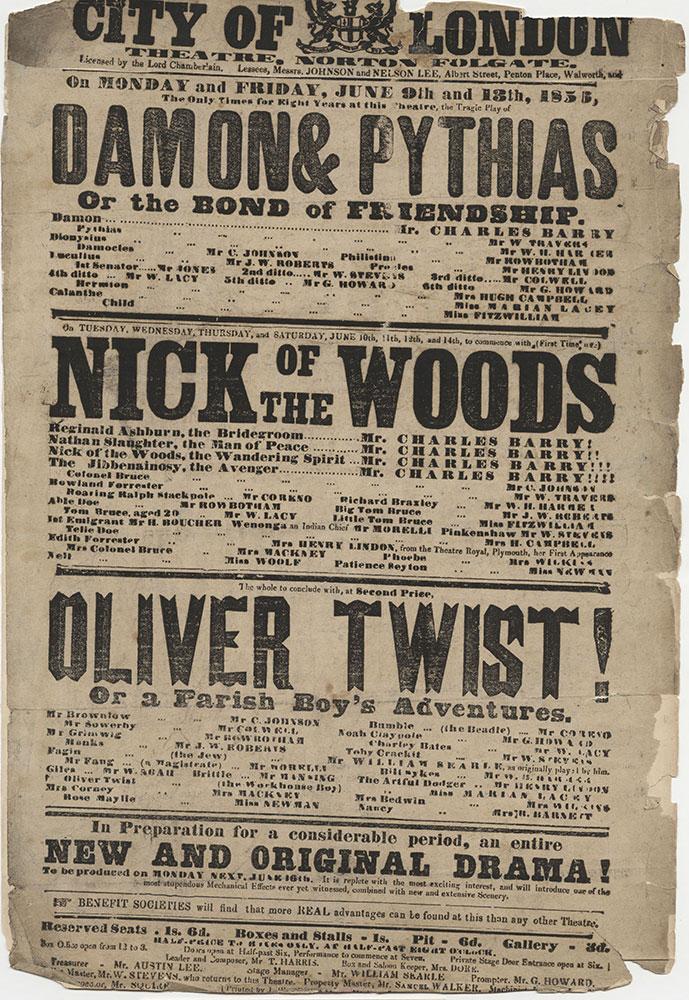 Oliver Twist Play Bill