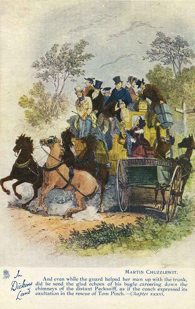 In Dickens Land - Martin Chuzzlewit Postcard