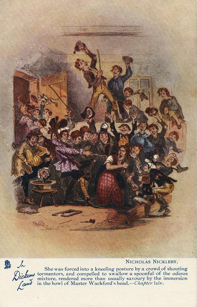 In Dickens Land - Nicholas Nickleby Postcard