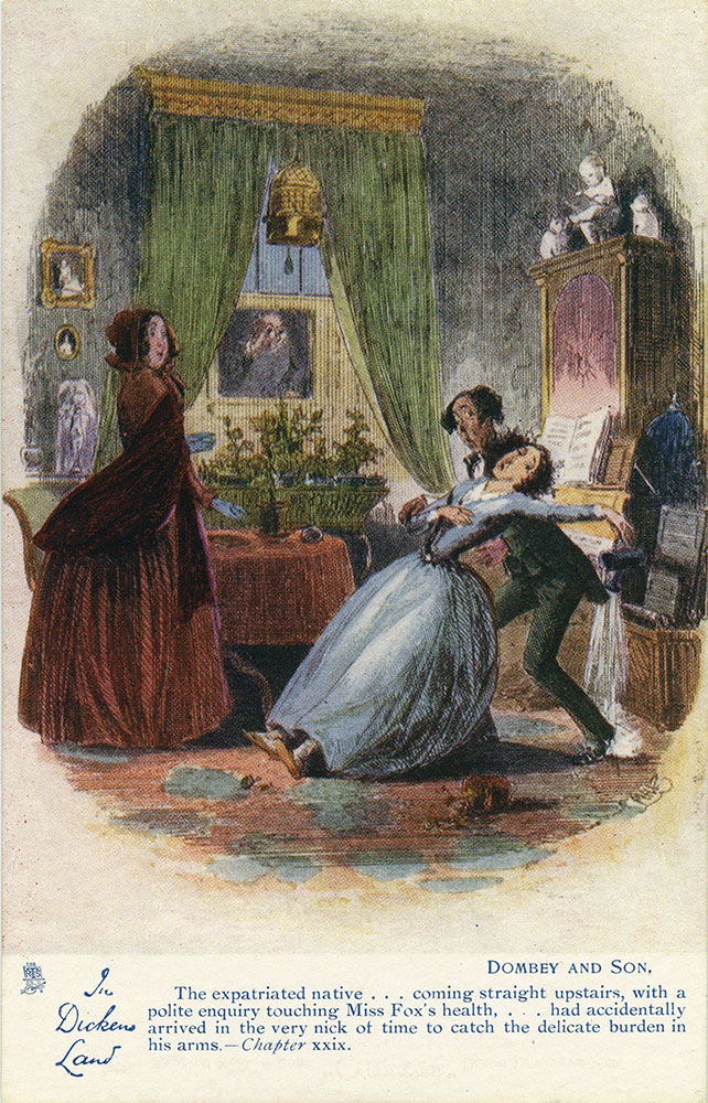 In Dickens Land - Dombey and Son Postcard