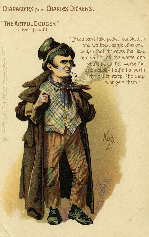 Characters From Charles Dickens - The Artful Dodger Postcard