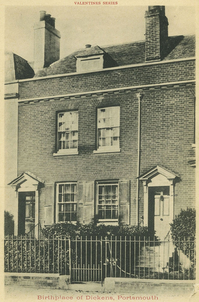 Birthplace of Dickens Postcard