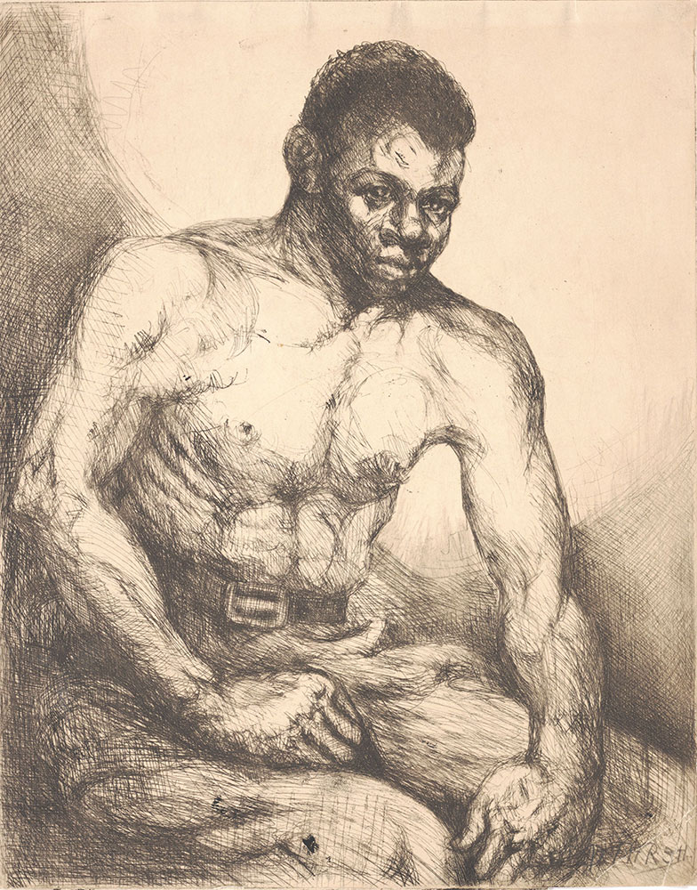 Untitled [Male Model, Seated]