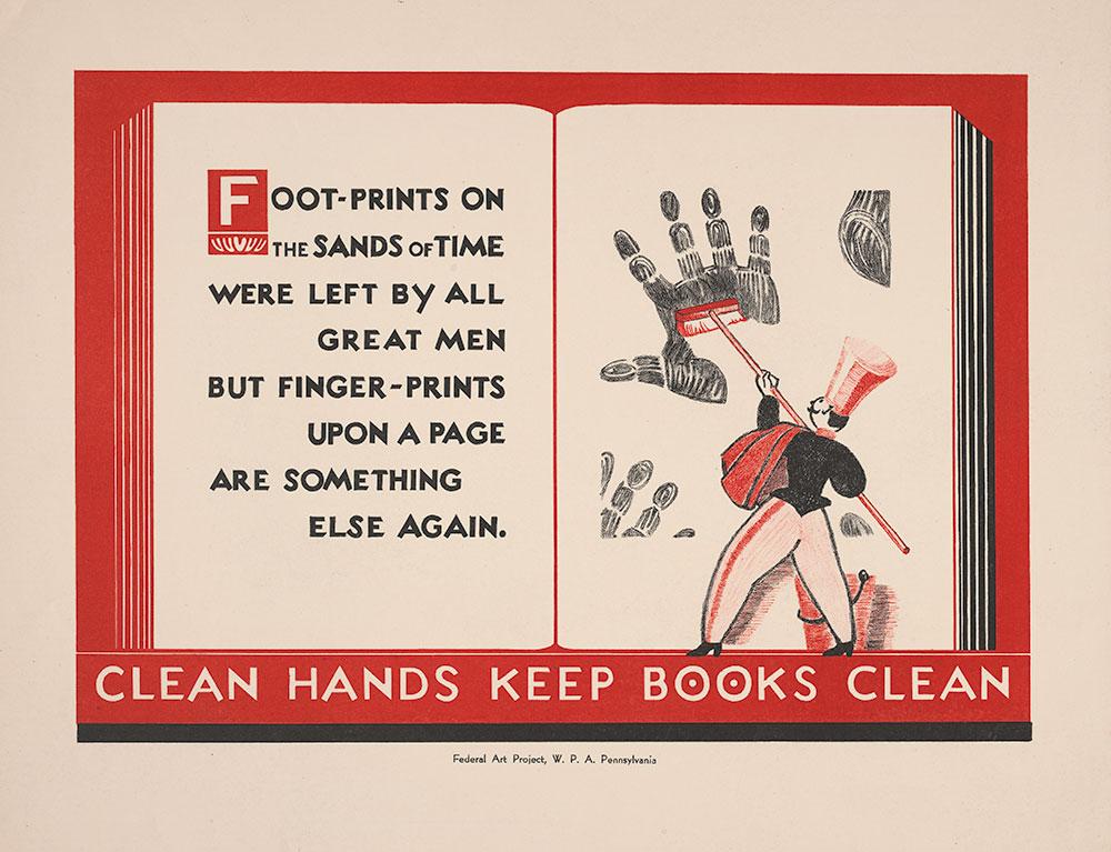 Clean Hands Keep Books Clean