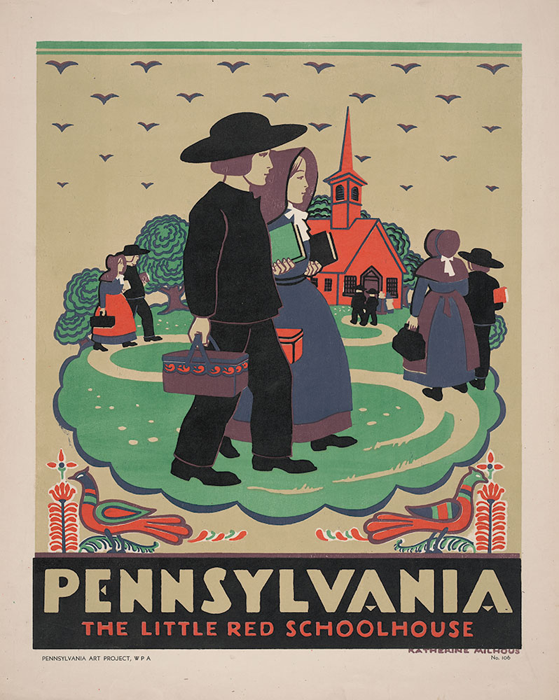 Pennsylvania: Little Red Schoolhouse