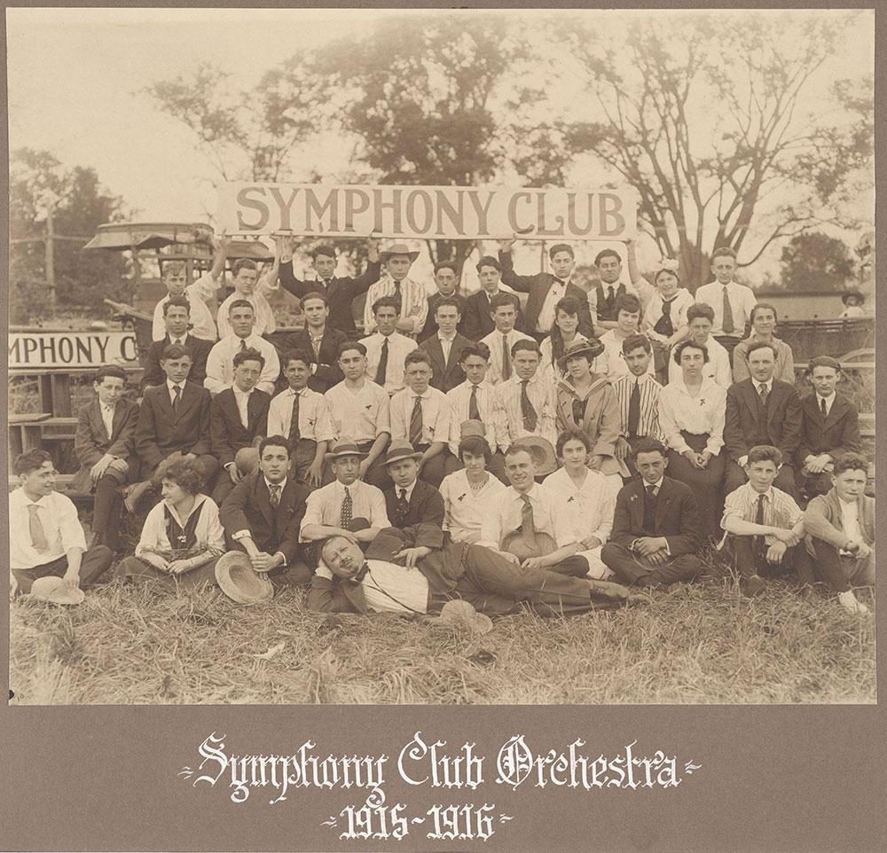 Symphony Club Orchestra 1915-1916