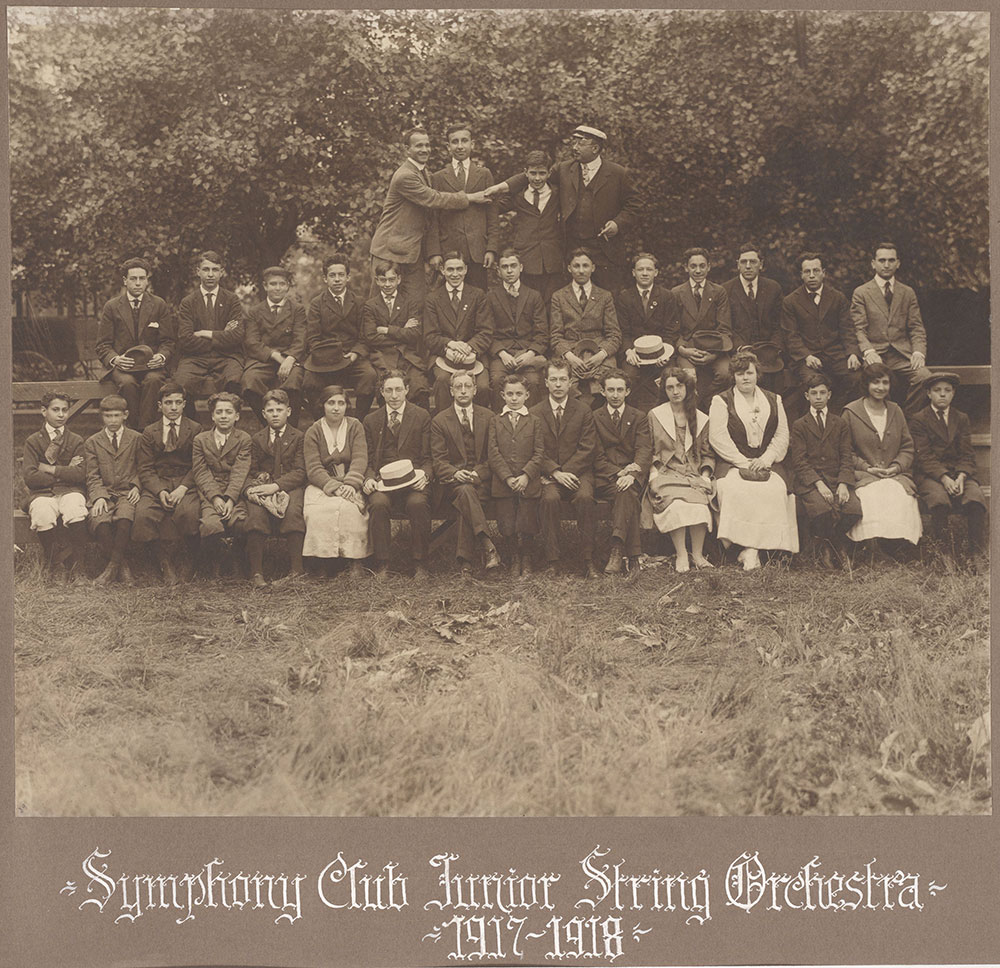 Symphony Club Junior String Orchestra 1917-1918
