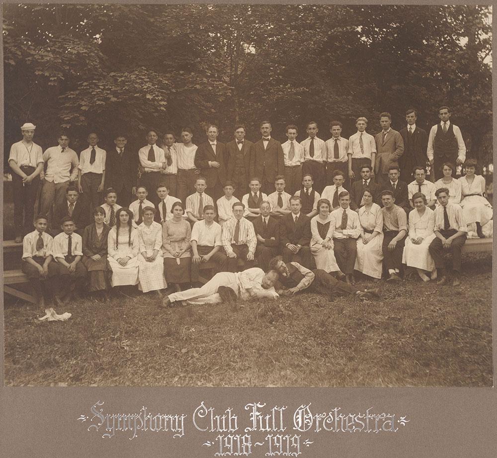 Symphony Club Full Orchestra 1918-1919