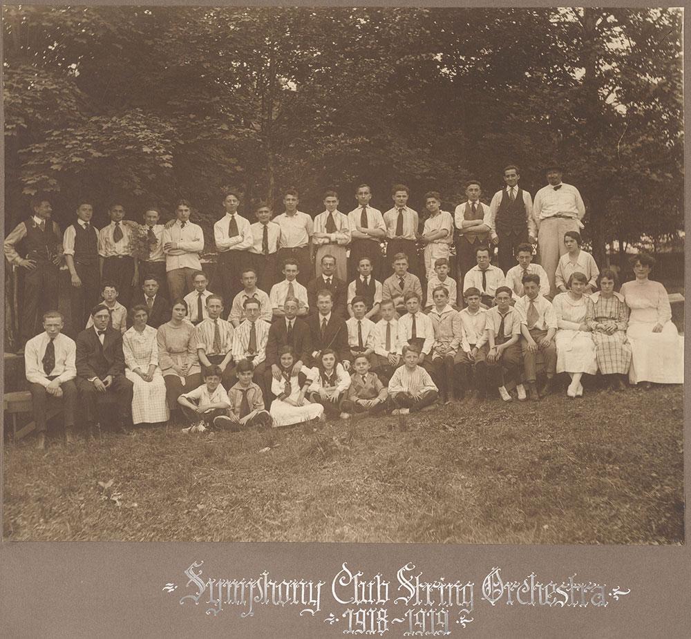 Symphony Club String Orchestra 1918-1919
