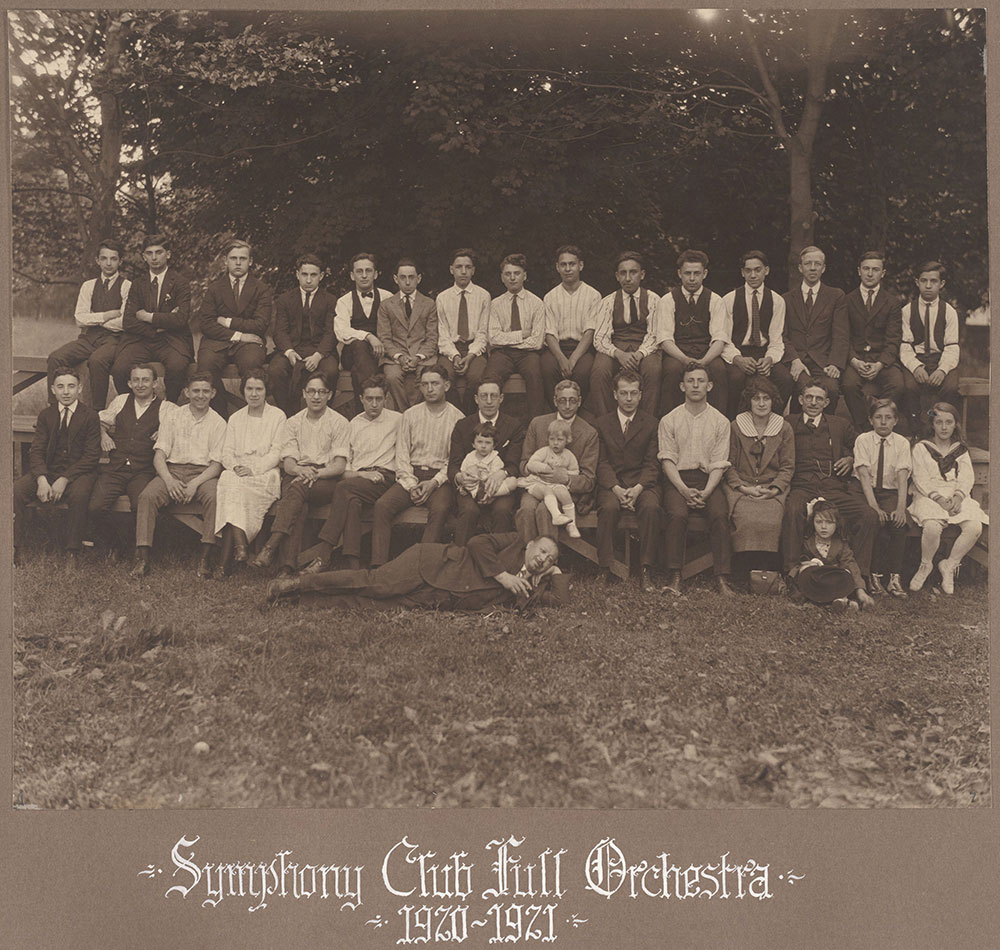 Symphony Club Full Orchestra 1920-1921