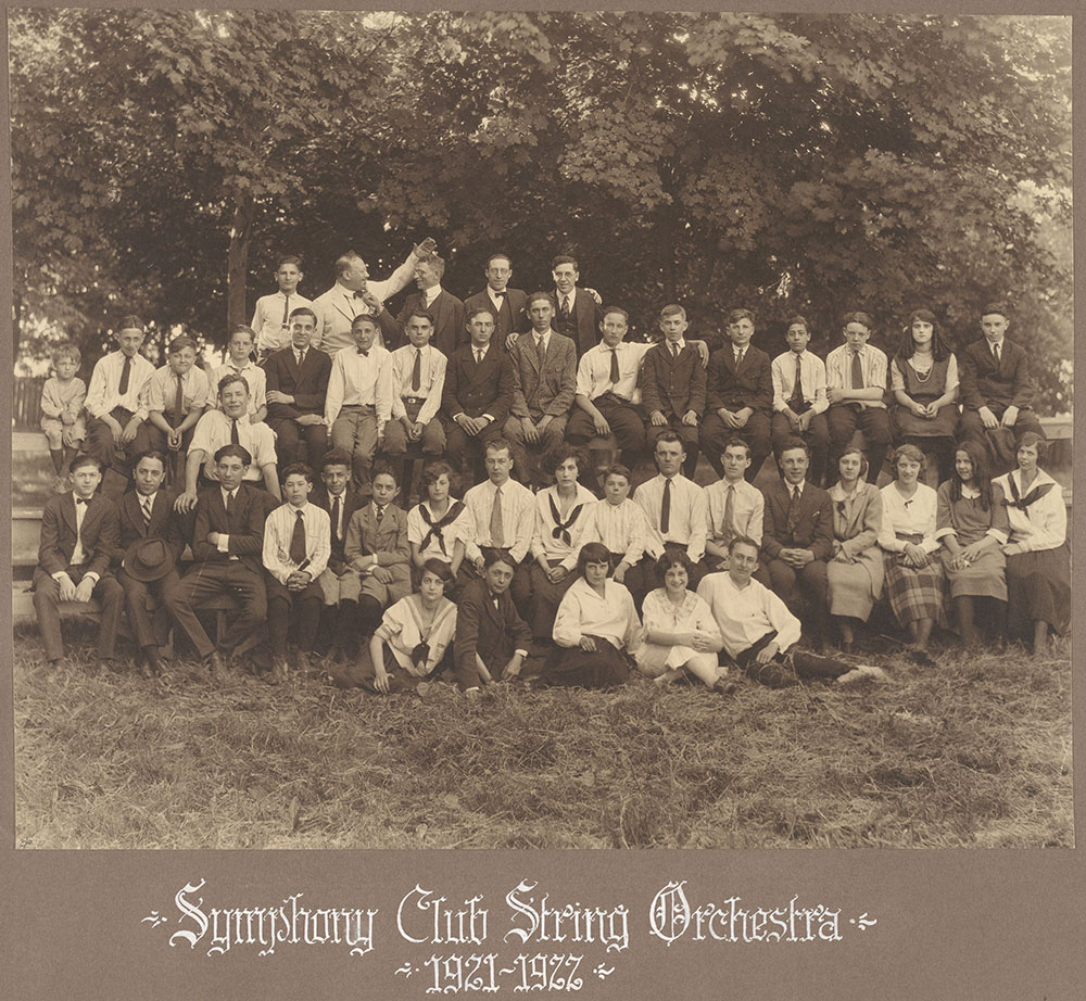 Symphony Club String Orchestra 1921-1922