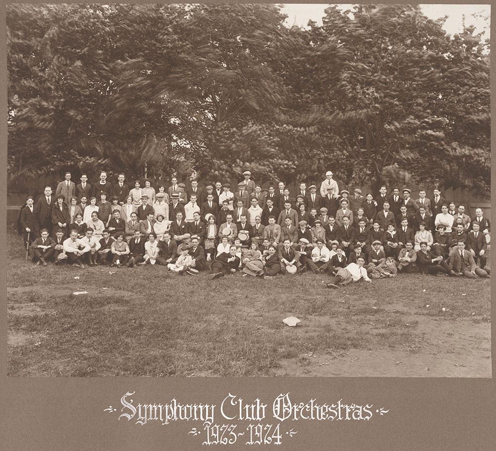 Symphony Club Orchestras 1923-1924