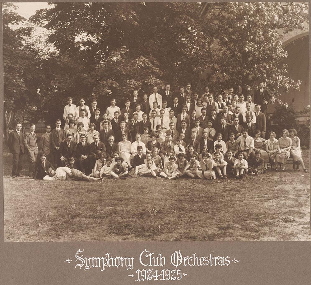 Symphony Club Orchestras 1924-1925