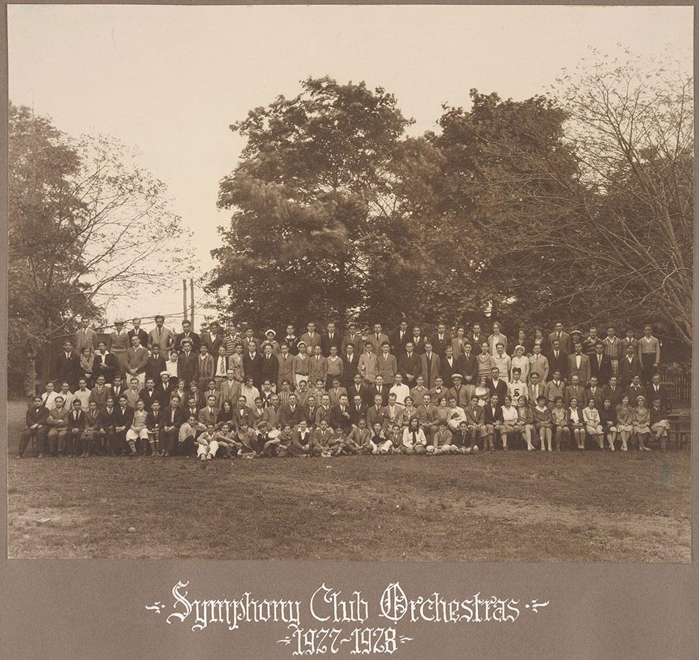 Symphony Club Orchestras 1927-1928