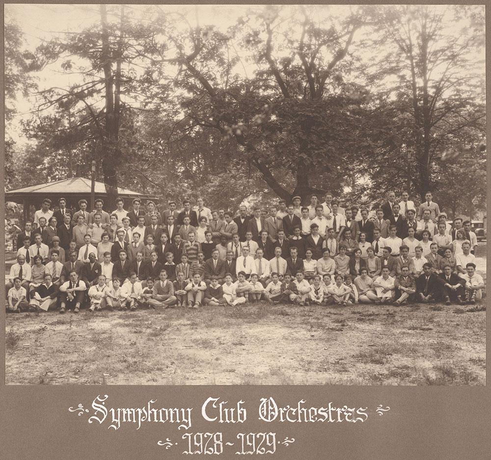 Symphony Club Orchestras 1928-1929