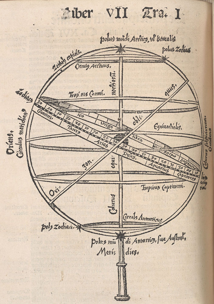 Woodcut of an astrolabe
