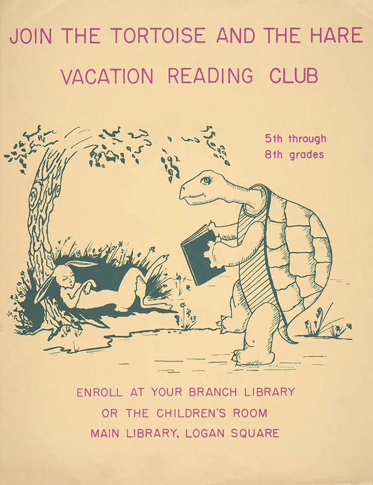 Undated - Join the Tortoise and the Hare Vacation Reading Club - Poster