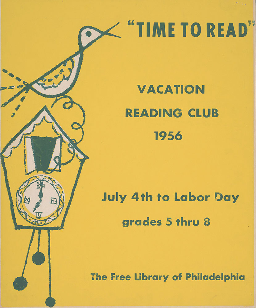 1956 - Vacation Reading Club - Time to Read - Poster