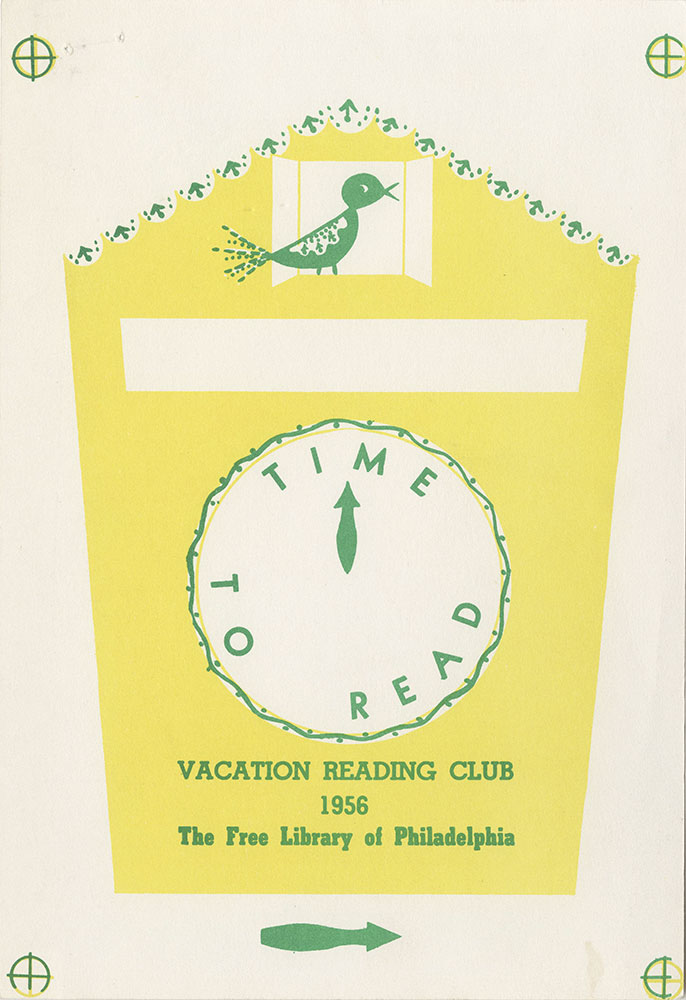 1956 - Vacation Reading Club - Time to Read - Clock