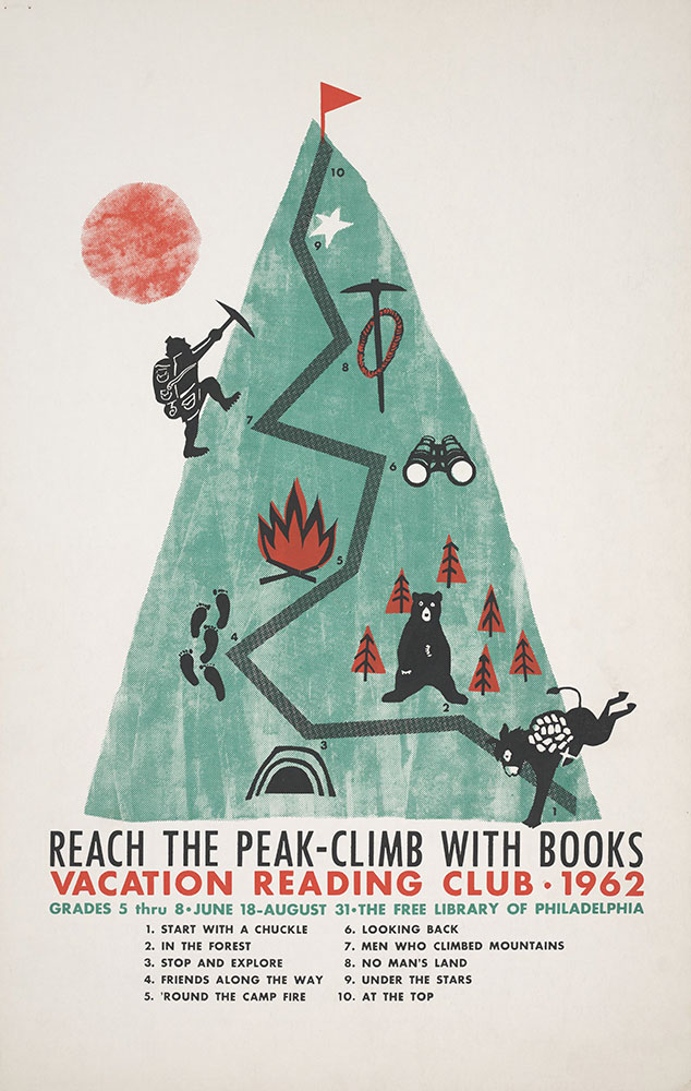 1962 - Vacation Reading Club - Reach the Peak - Poster