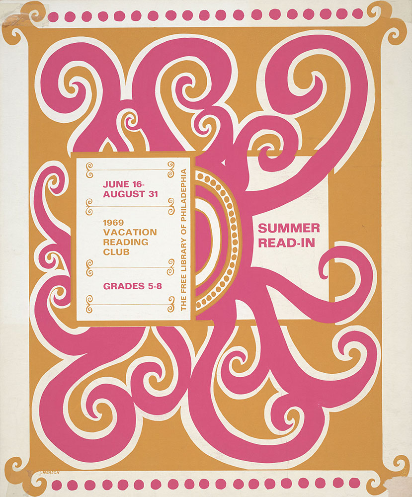1969 - Vacation Reading Club - Summer Read-In - Poster