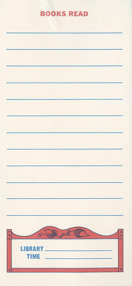 1975 - Vacation Reading Club - Read: It's Revolutionary! - bookmark - verso