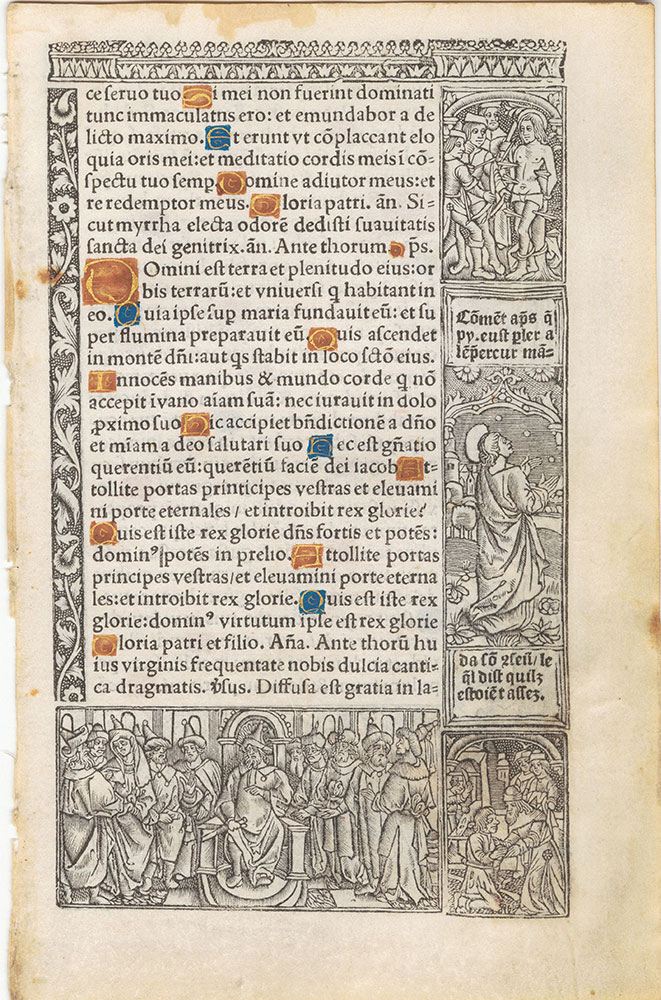 [Printed illuminated book of hours leaf]