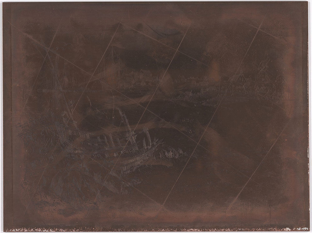 New York, 1675 canceled copper plate