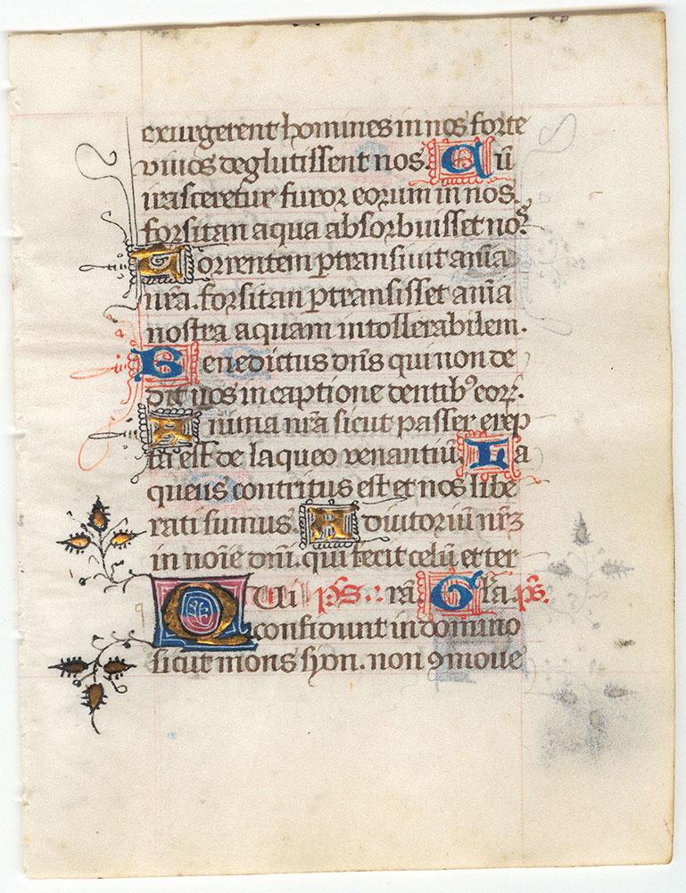Illuminated Book of Hours Leaf