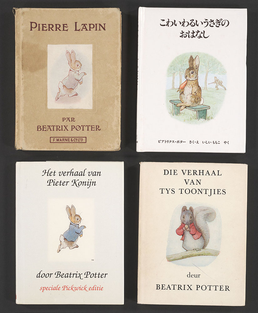 A Collection of Four Beatrix Potter Books In Four Languages