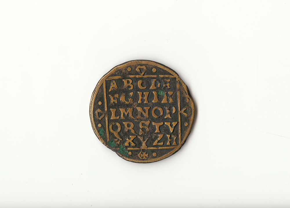 Coin for Learning the Alphabet [16th Century Nuremburg Coin] - Front