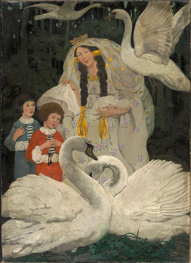Six Swans, The (Then she threw them each a shirt)