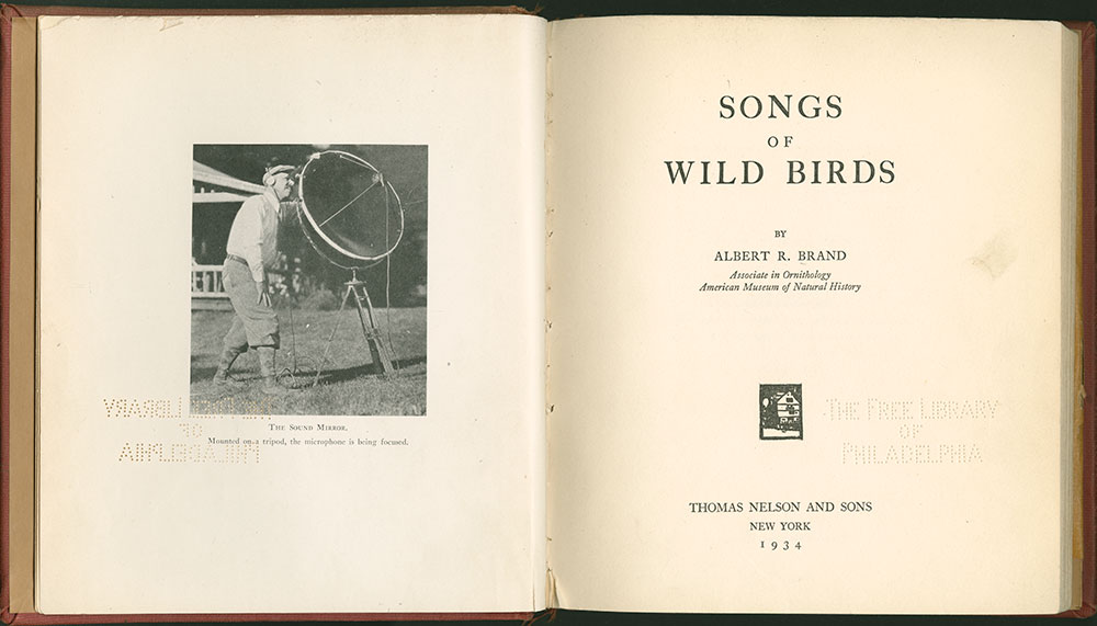 Songs of Wild Birds-Title Page