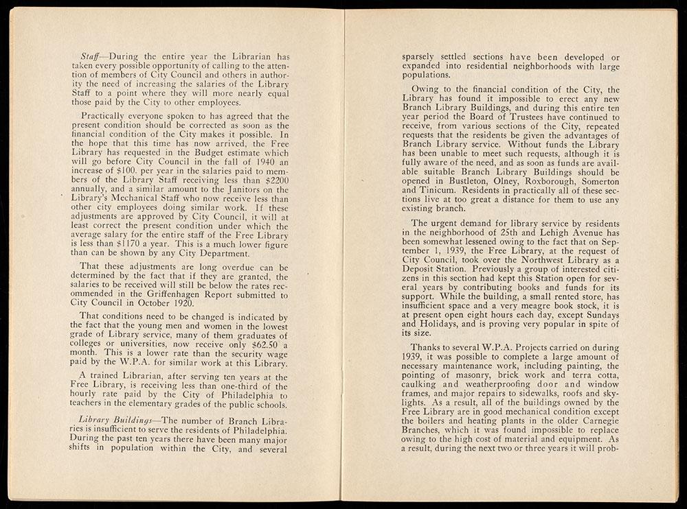 Free Library of Philadelphia 1939 Annual Report