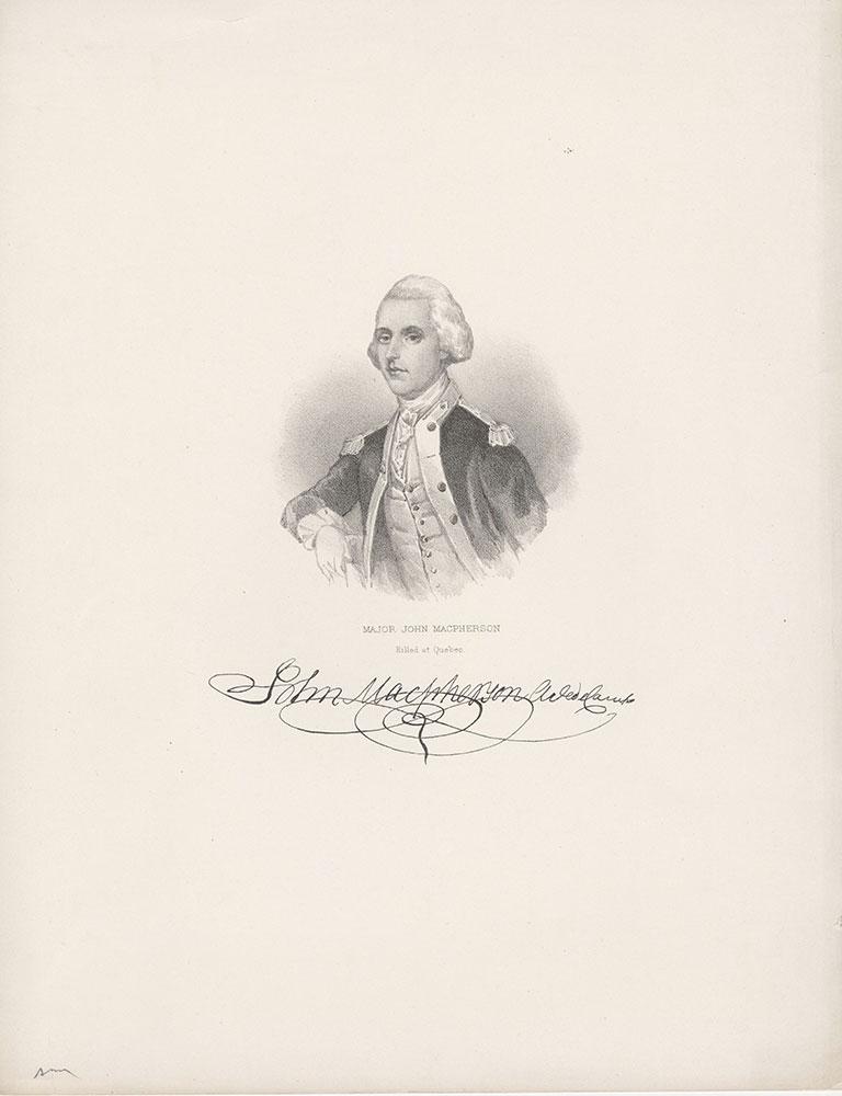 Major John MacPherson, Killed at Quebec