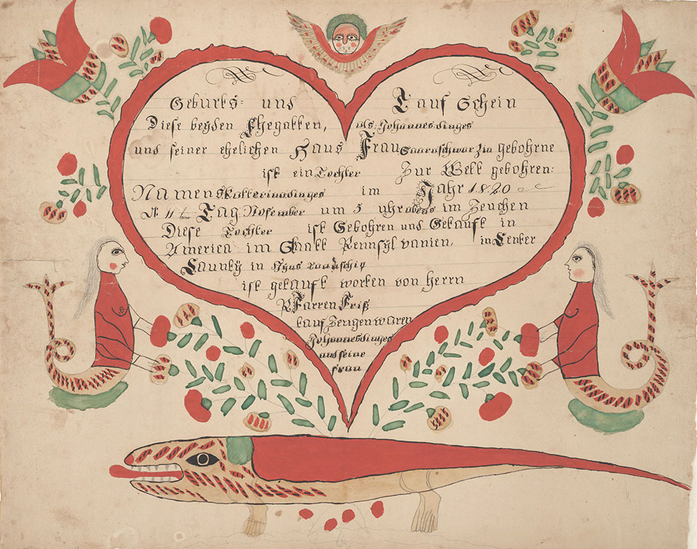 Birth and Baptismal Certificate (Geburts und Taufschein) for Katterina Dinges