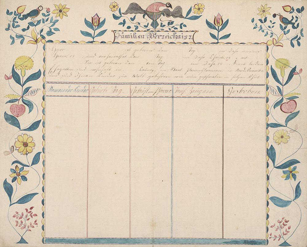 Family Record (Familienregister) [blank]