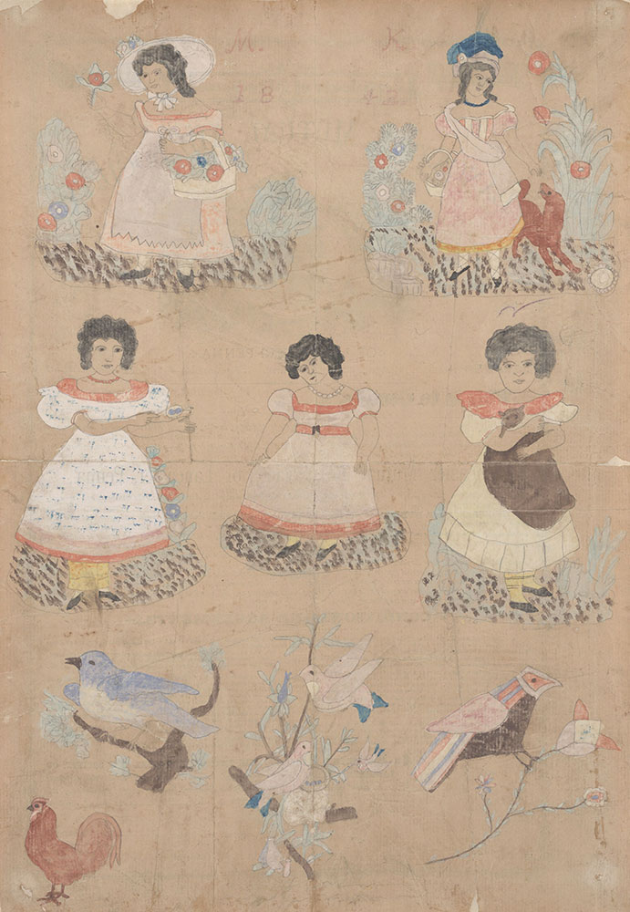 Drawing (Young Girls and Birds)
