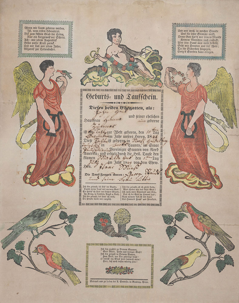 Birth and Baptismal Certificate (Geburts und Taufschein) for Matilda Heck