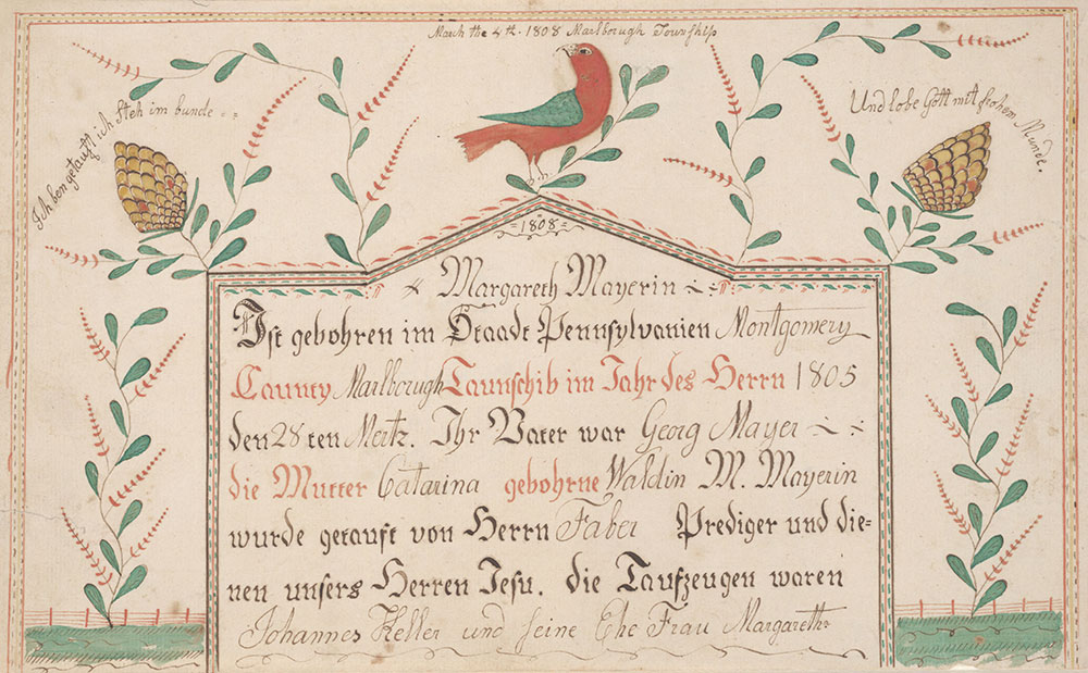Birth And Baptismal Certificate Geburts Und Taufschein For