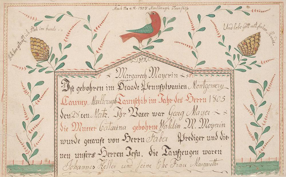 Birth And Baptismal Certificate Geburts Und Taufschein For