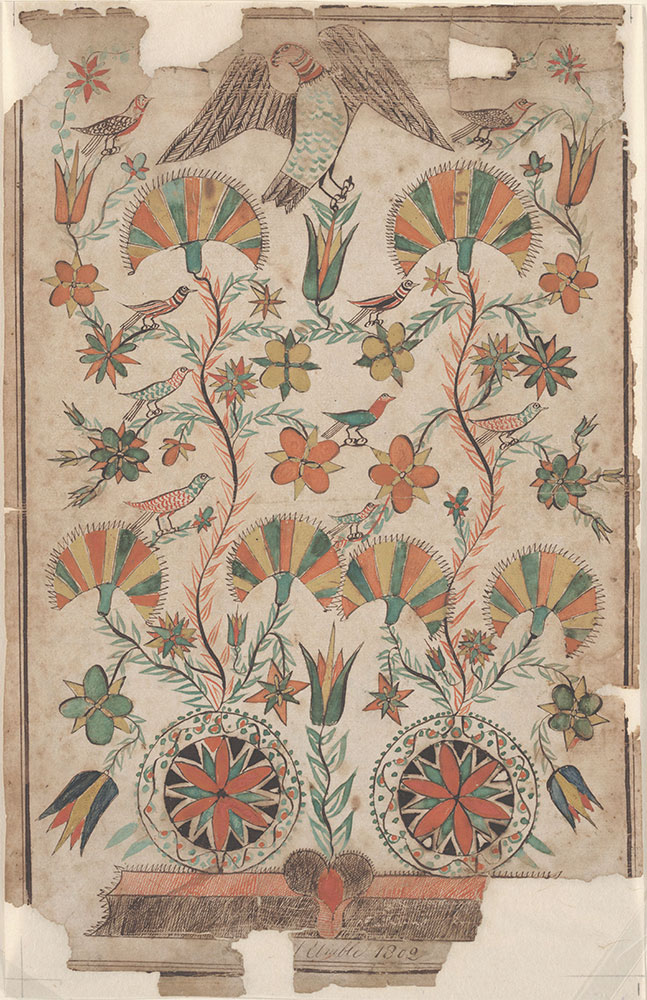 Drawing Flowers And Birds Digital Collections Free Library