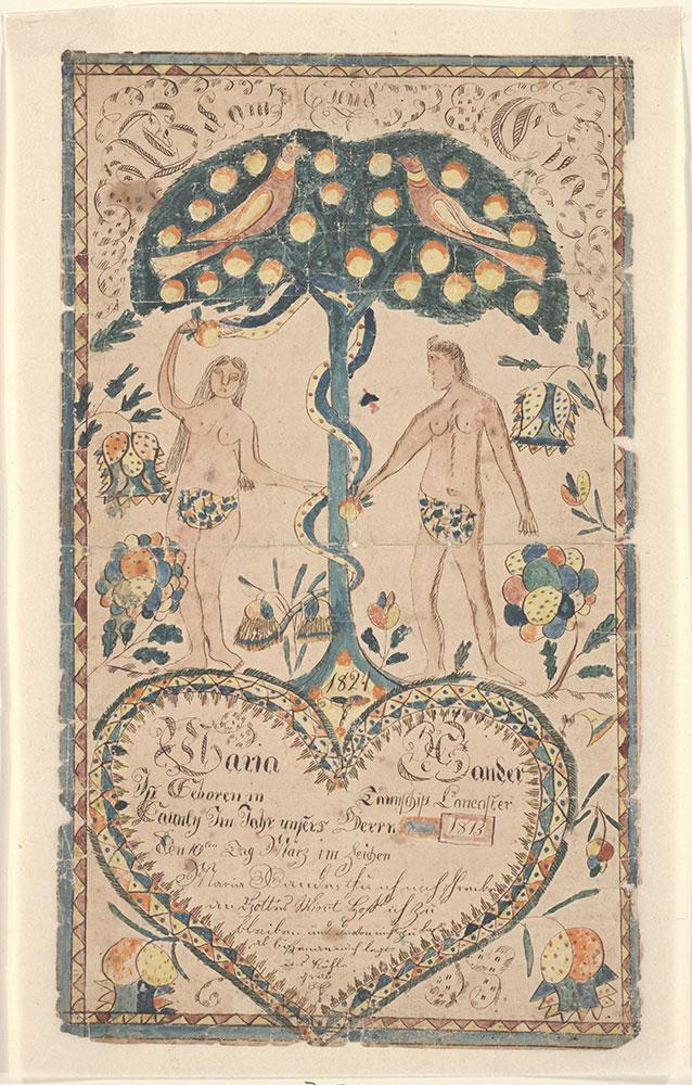 Birth Certificate (Geburtsschein) for Maria Xander